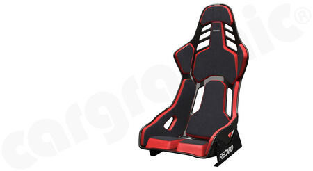 RECARO Podium - Alcantara / Leather - Cover: Alcantara Black / Leather Red<br>