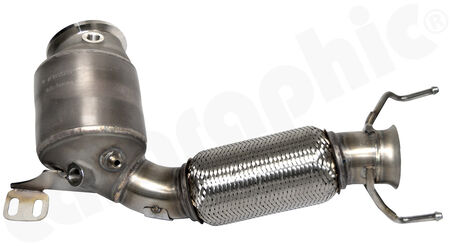 HJS Tuning Downpipe - 90822031 - with <b>200cpsi sport catalytic converter</b><br>