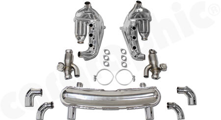 CARGRAPHIC Sport Exhaust System - - <b>Modified</b> ID40mm heat exchangers<br>