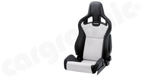 RECARO Sportster CS - Dinamica / Kunstleder - Cover: Dinamica Silver / Ambla leather Black <br>