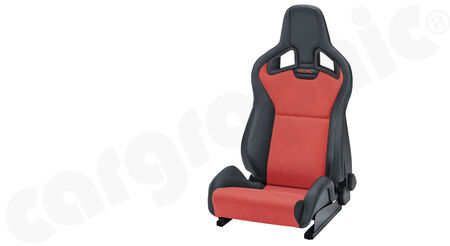 RECARO Sportster CS - Dinamica / Kunstleder - Cover: Dinamica Red / Ambla leather Black <br>