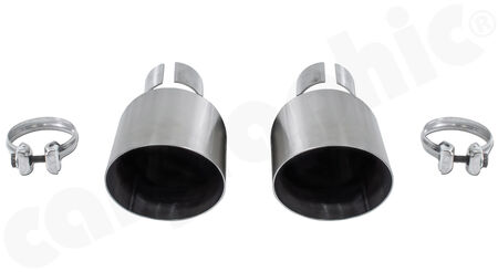 CARGRAPHIC Sport Tailpipe Set - - 2x 100mm round open<br>